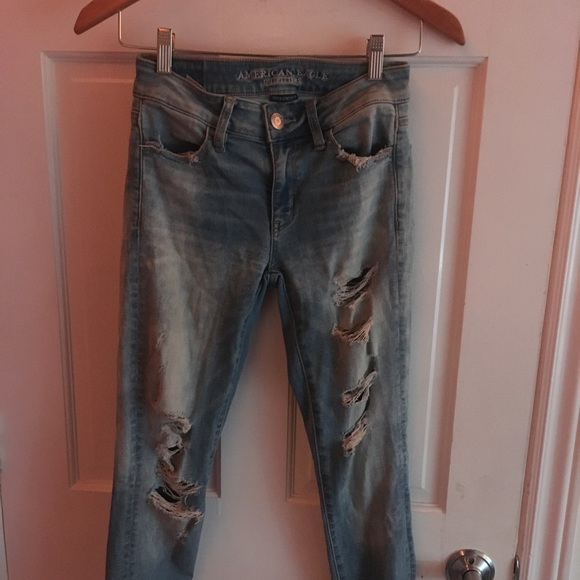light blue mid rise jeans